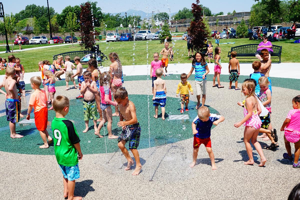 Riverton City Park Splash Pad